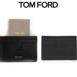 TOM FORD Leather T Line Card Holder Wallet NWT